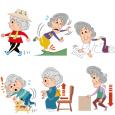 高齢者おばあさんの医療イラスト