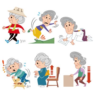 老人・おばあさんのイラスト